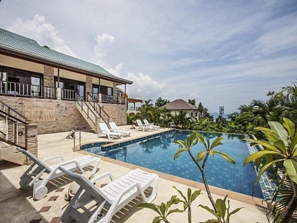 泰国苏梅岛波普特景观海景四卧室别墅(Bophut View - 4-Bedroom Sea-View Villa)