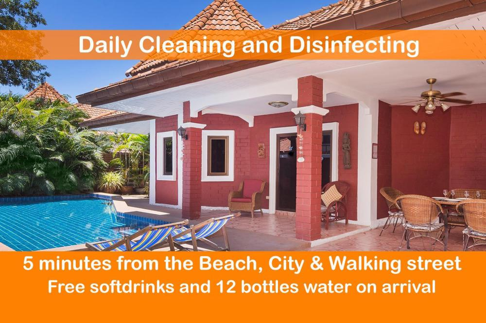 Villa Sabai 5 minutes from Walking Street /  Beach