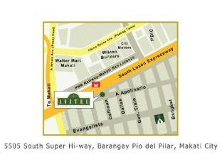 Avitel Hotel Manila - Location Map
