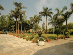Baghmara Wildlife Resort Chitwan National Park - Garden way to Dining Hall and Pool