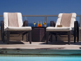 Ambassador Self Catering Apartments Cape Town - Sitting Area at the Swimming Pool