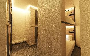 Front view of Bond Boutique Capsule Hotel