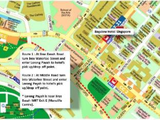 Bayview Hotel Singapore - Mappa