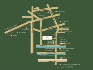 阿曼达酒店和公寓 曼谷 - 地图