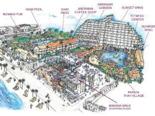 芭東海灘酒店 布吉 - 平面圖