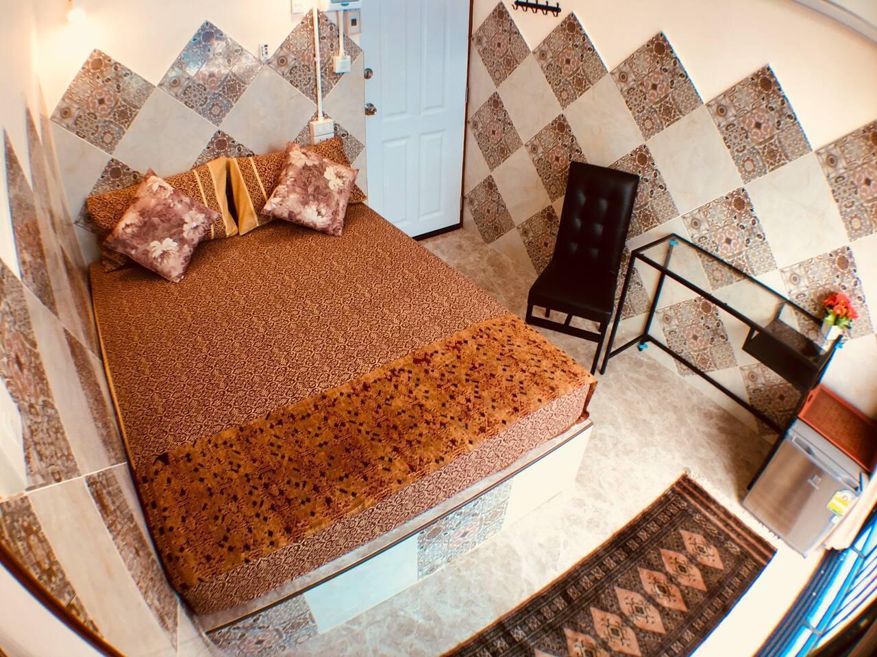 Heavenly Bed With Cool View MRT Street food สตูดิโอ อพาร์ตเมนต์ 1 ห้องน้ำส่วนตัว ขนาด 10 ตร.ม. – สาทร