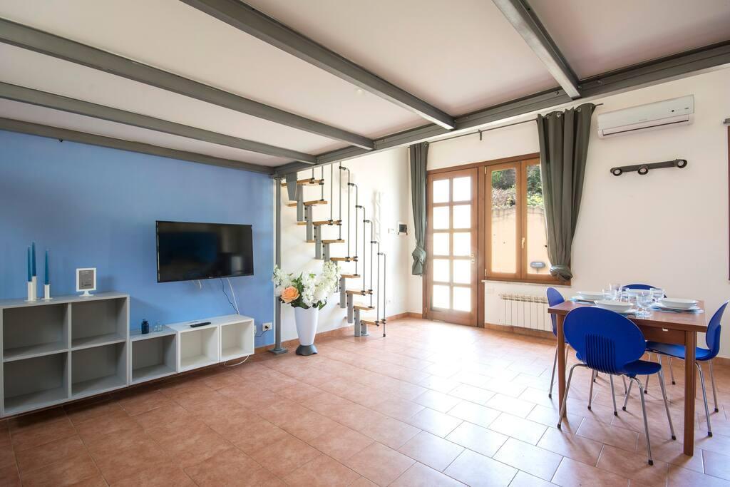 Hintown Blue Terraced House