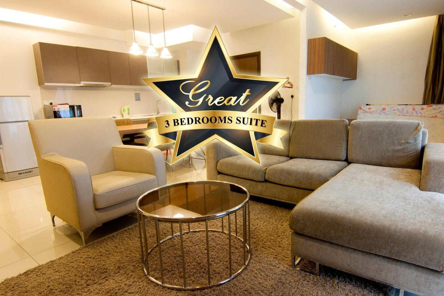 3BR Family Suite  Kids Friendly  Near Mall And LRT