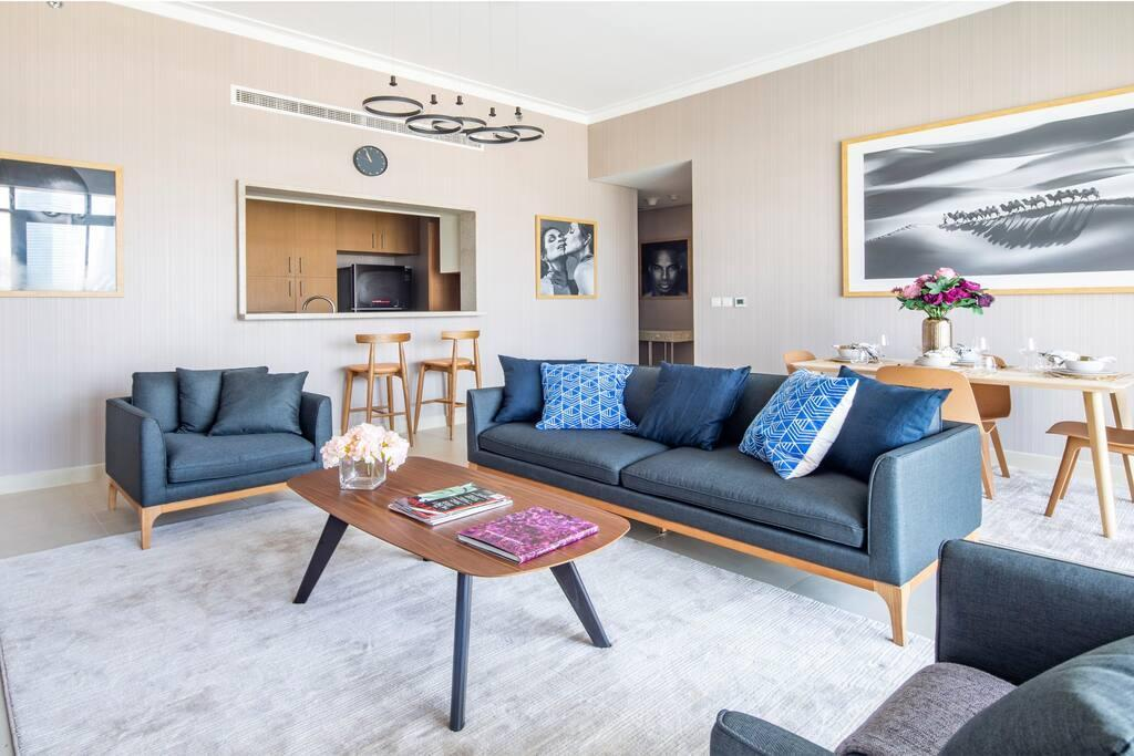 Modern 2BR W  Tranquil Ambience In Emirates Hills