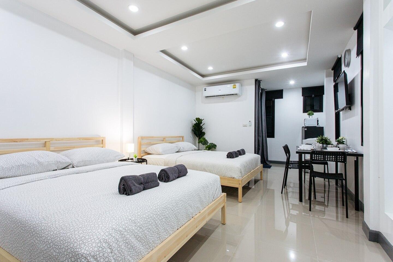 P2 Silom Large 2beds full kitchen WIFI 4-6pax สตูดิโอ อพาร์ตเมนต์ 1 ห้องน้ำส่วนตัว ขนาด 42 ตร.ม. – สาทร