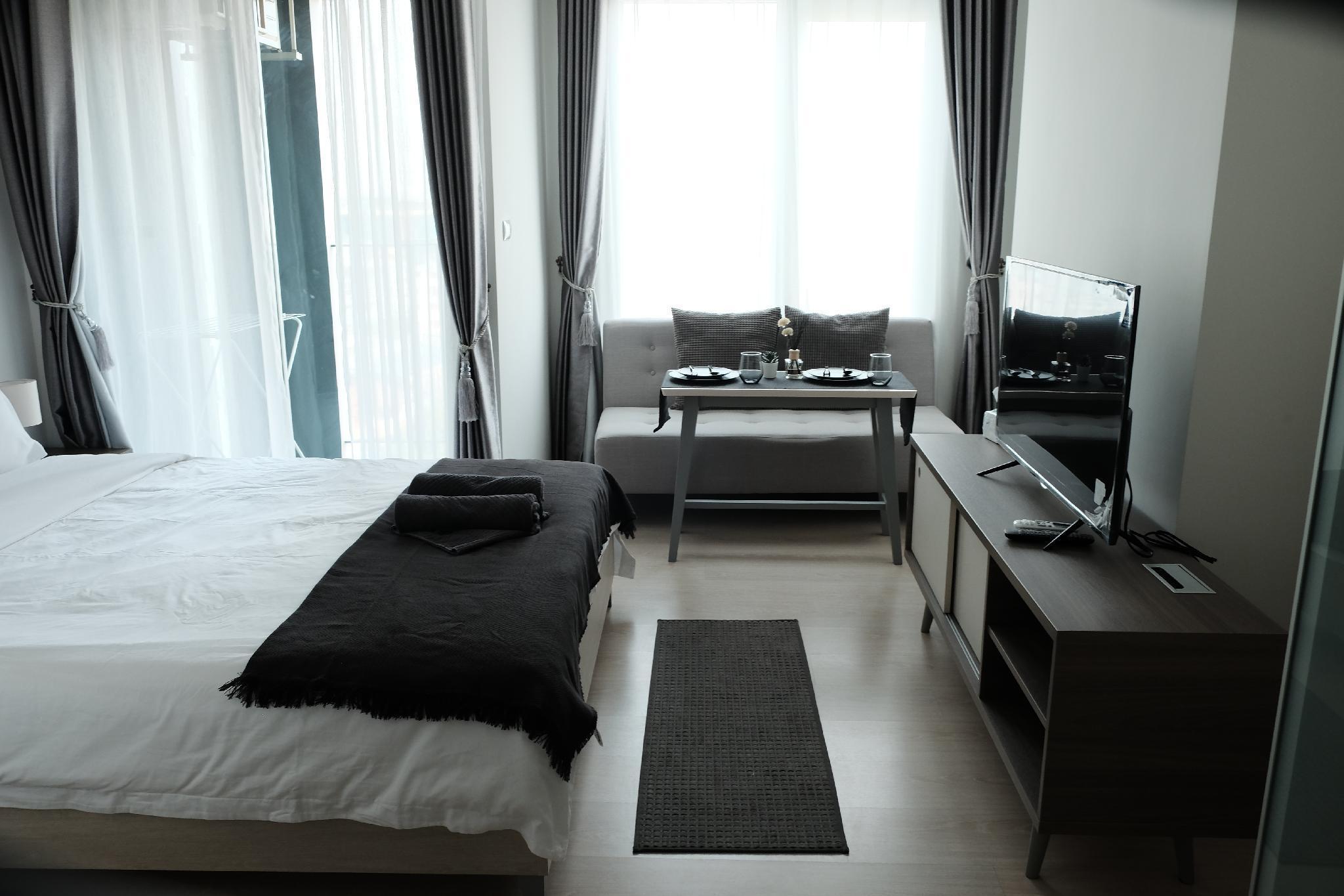 New Room/Ratchada/Infinity Pool/Shopping Street อพาร์ตเมนต์ 1 ห้องนอน 1 ห้องน้ำส่วนตัว ขนาด 26 ตร.ม. – รัชดาภิเษก