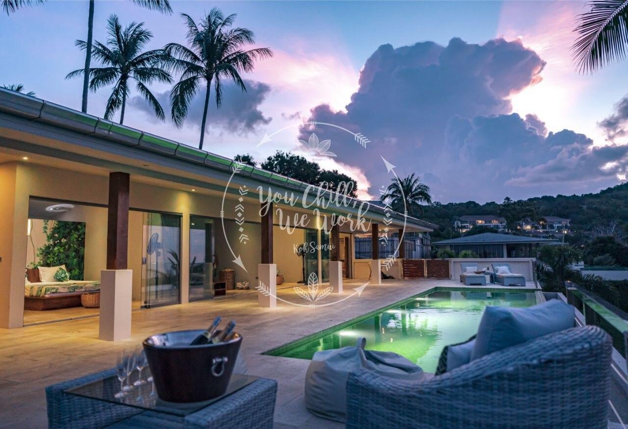 Villa Agatha Tropical and Natural Ocean View วิลลา 3 ห้องนอน 3 ห้องน้ำส่วนตัว ขนาด 240 ตร.ม. – หาดเฉวง