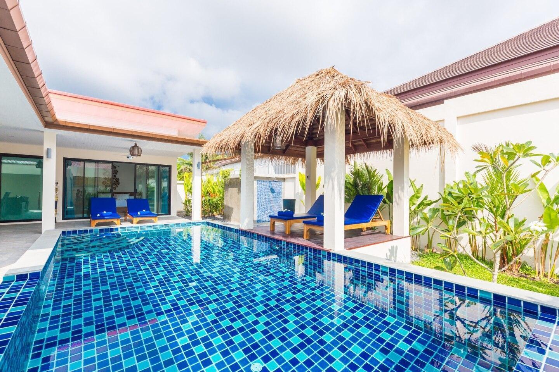 Warm Place for Family/Friends with Private Pool วิลลา 2 ห้องนอน 2 ห้องน้ำส่วนตัว ขนาด 300 ตร.ม. – หาดราไวย์