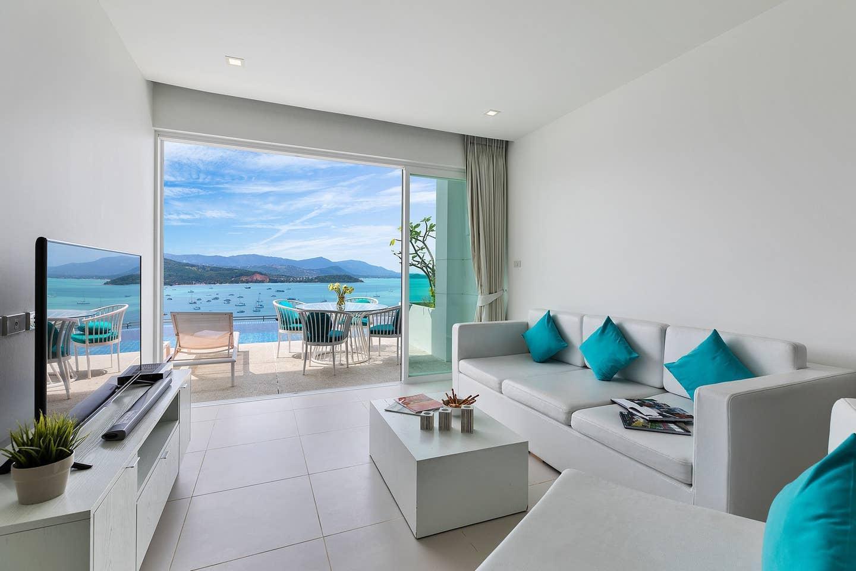 Luxury Sea View Apartment D  UniQue Residences อพาร์ตเมนต์ 2 ห้องนอน 2 ห้องน้ำส่วนตัว ขนาด 60 ตร.ม. – เชิงมน
