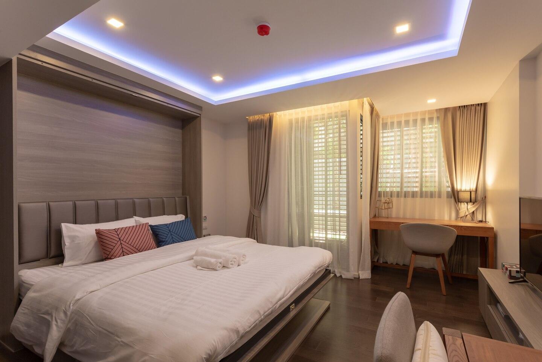 Bangkok&Pool&BTS Asoke&MRT Sukhumvit&Max2ppl อพาร์ตเมนต์ 1 ห้องนอน 1 ห้องน้ำส่วนตัว ขนาด 35 ตร.ม. – สุขุมวิท