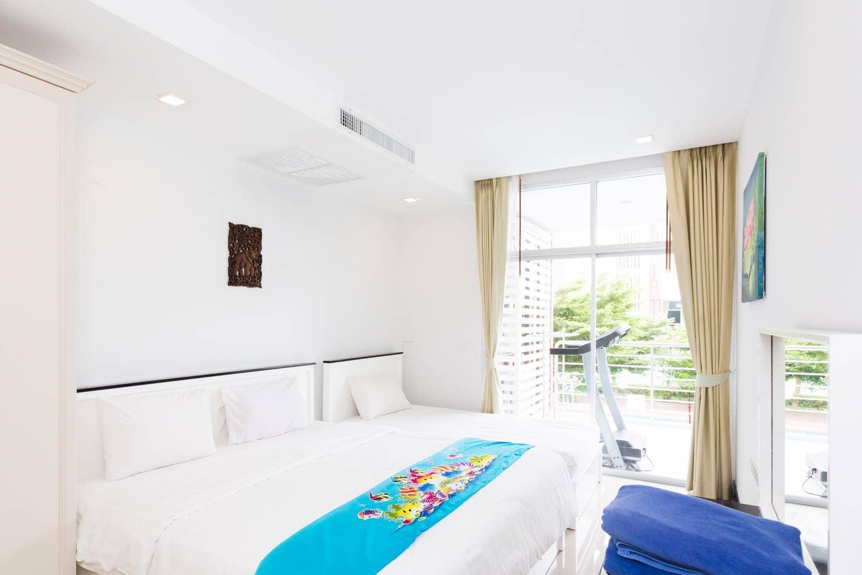 At Sea Condo @ Pano View C 201 อพาร์ตเมนต์ 2 ห้องนอน 2 ห้องน้ำส่วนตัว ขนาด 84 ตร.ม. – หาดคลองม่วง