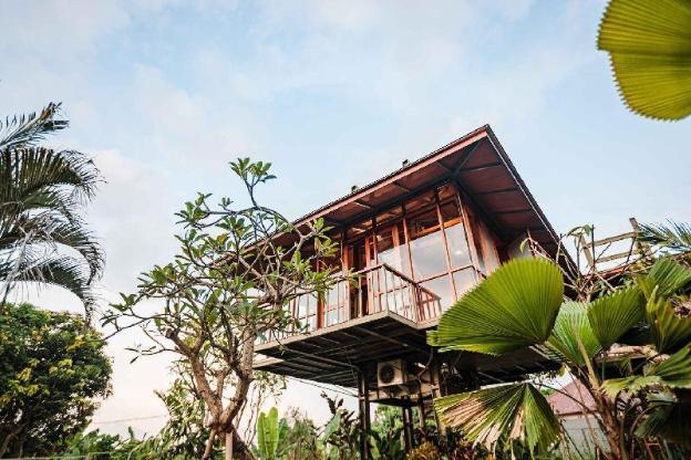 NEW Treehouse in Canggu - rice field views (Plum)