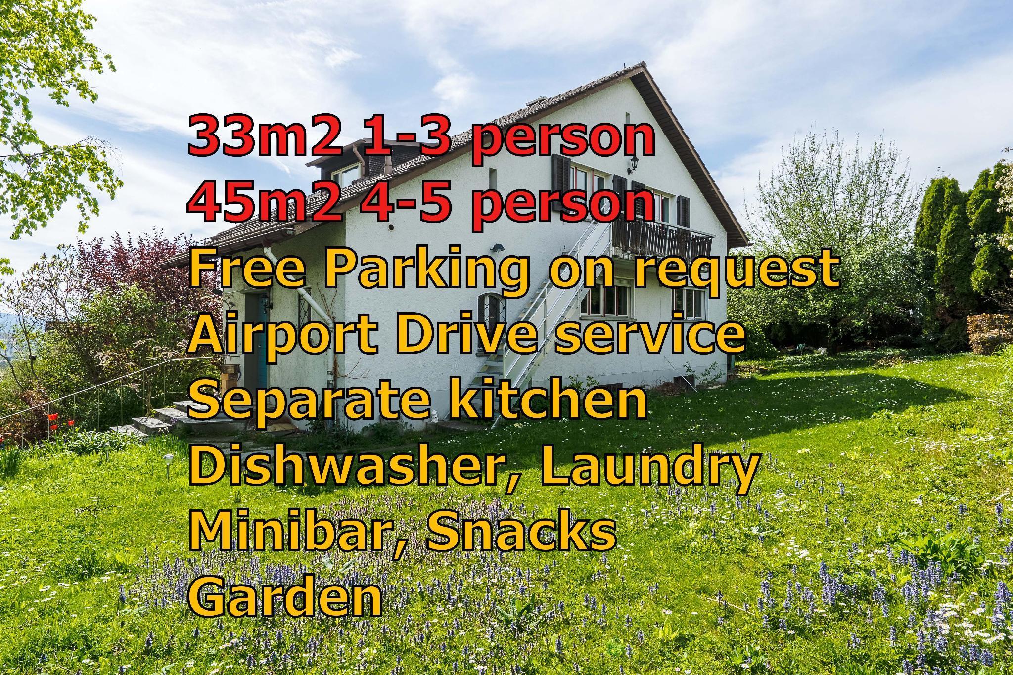 Zurich Airport Apartment Loft 45m2, free parking
