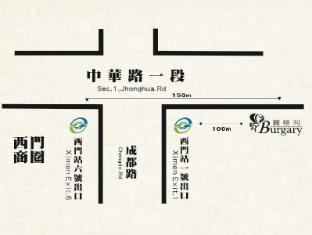 Burgary Hotel Taipei - Kaart