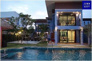 [プランブリー]ヴィラ(200m2)| 3ベッドルーム/4バスルーム BeachFront Modern Poolvilla | Pranburi Beach