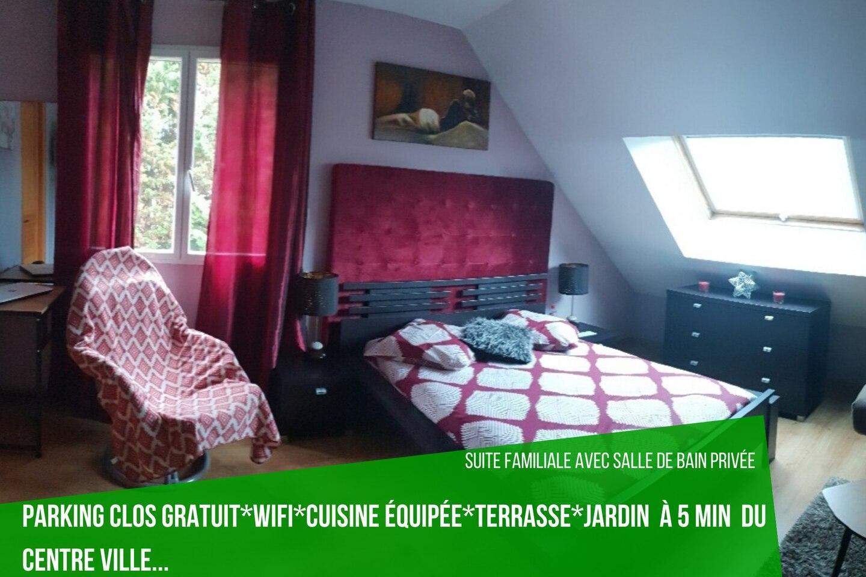 Suite avec Salle de bain privée à 40mn de Paris