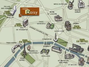 Doisy Etoile Hotel Paris - Map