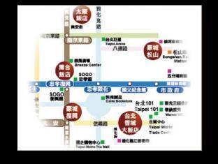 Deja Vu Hotel Taipei - Map