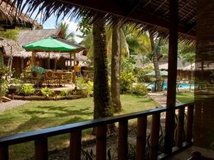 Oasis Beach & Dive Resort Panglao Island - From the porch of a garden bungalow