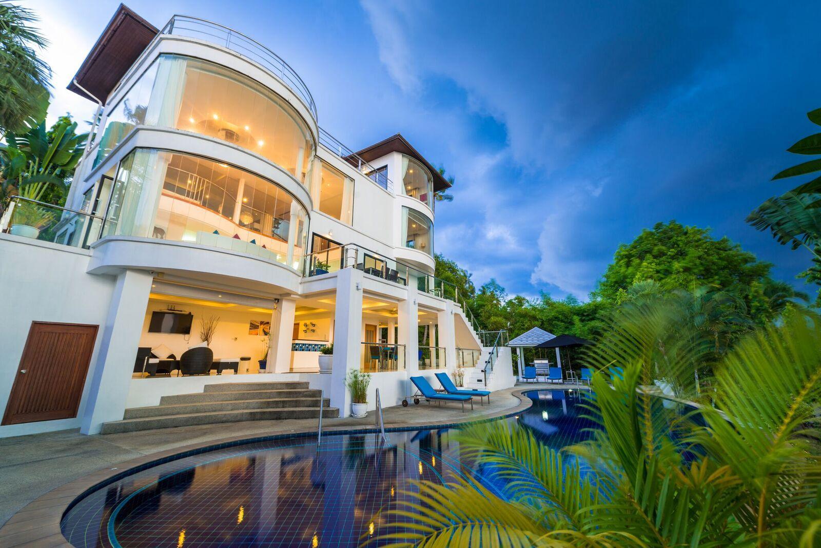 Villa White Stone With Sea View And Private Pool