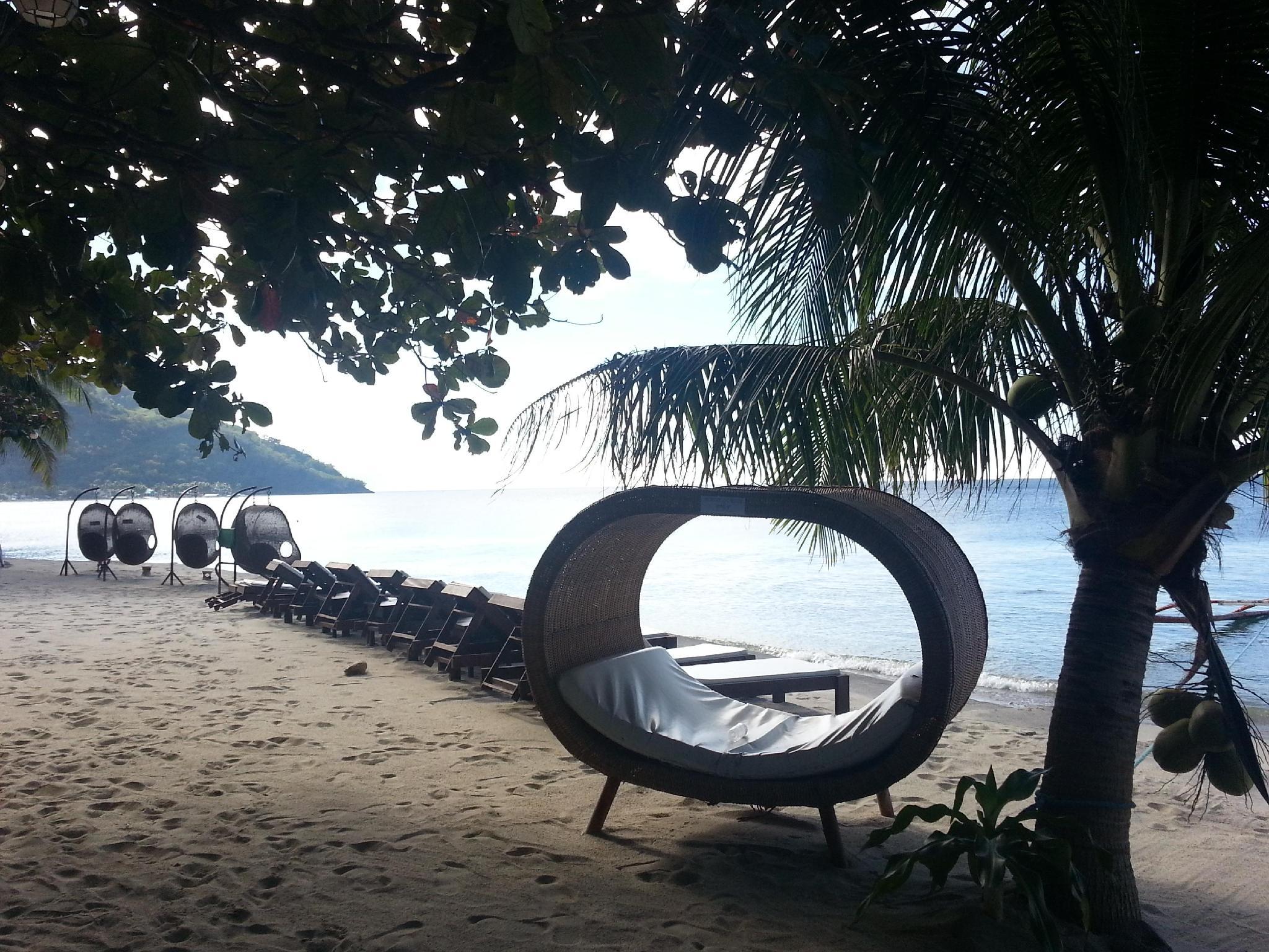 Sunset At Aninuan Beach Resort Puerto Galera