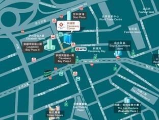 코즈웨이 코너 홍콩 - 지도