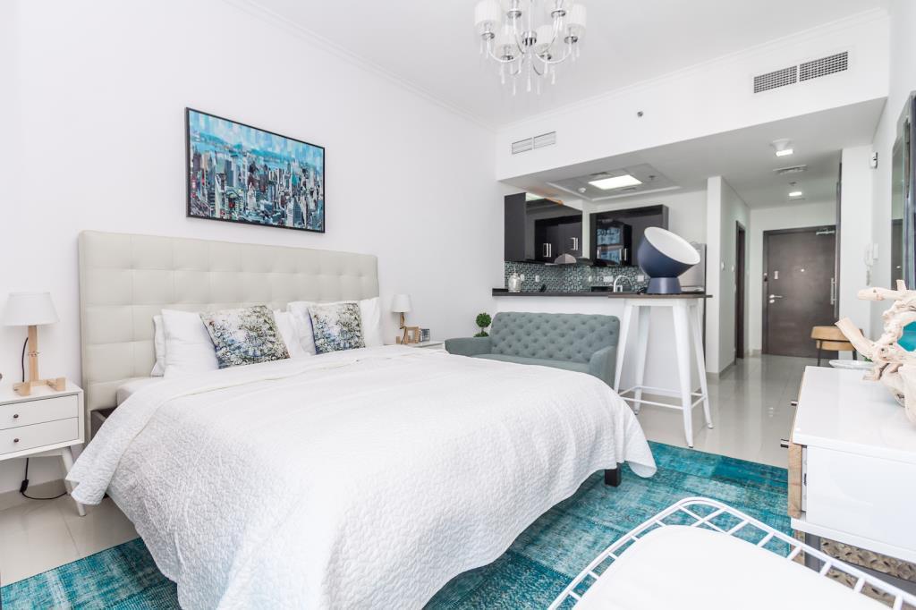 Panoramic Sea And Marina View In A Cozy Studio Apartment In Botanica Dubai Marina