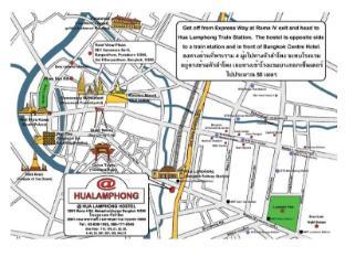 @Hua Lamphong Hostel בנגקוק - מפה