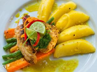 Rama Shinta Hotel Candidasa Бали - Ресторант