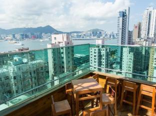 Printemp Hotel Apartment Hong Kong - View from Root top Balcony