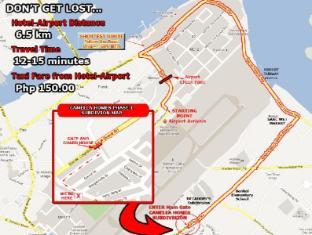 Cebu Residencia Lourdes Мактан Айленд - Карта