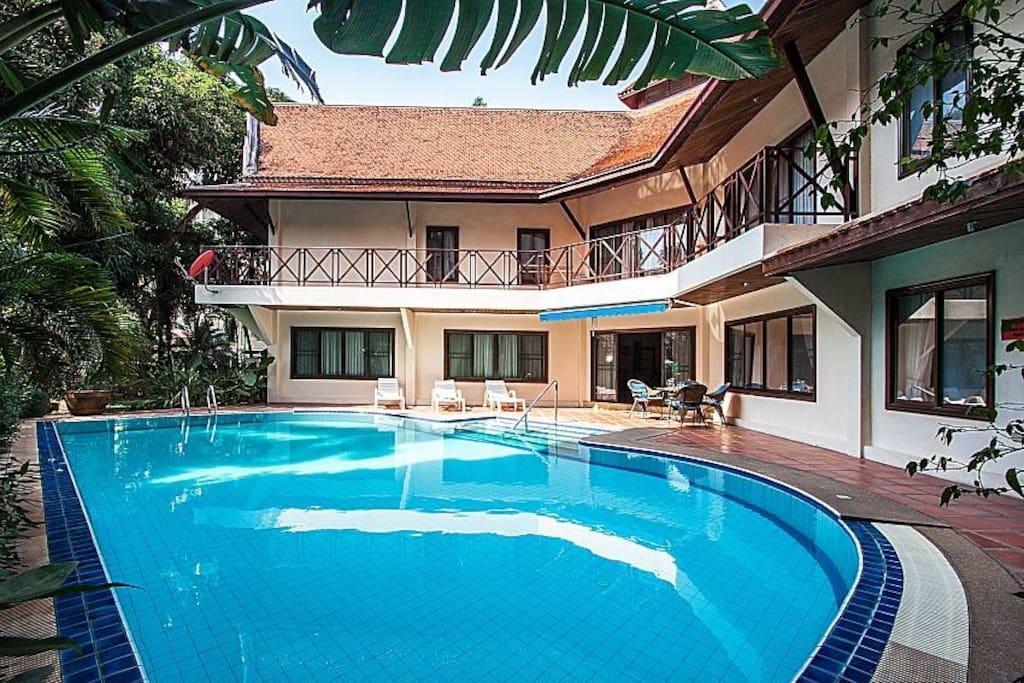 5BR Modern Thai Villa w/ Large Pool 5 min to Beach 5BR Modern Thai Villa w/ Large Pool 5 min to Beach