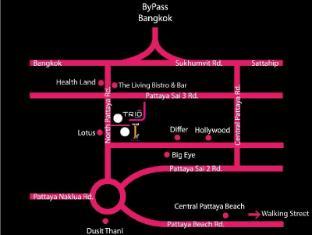 Trio Hotel Pattaya - Map