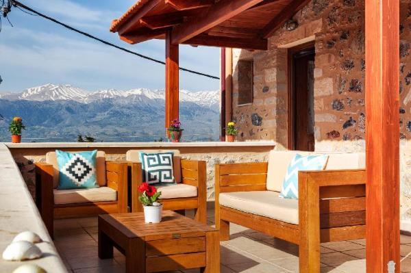 Villa Eleonas stone built villa with private pool Crete Island