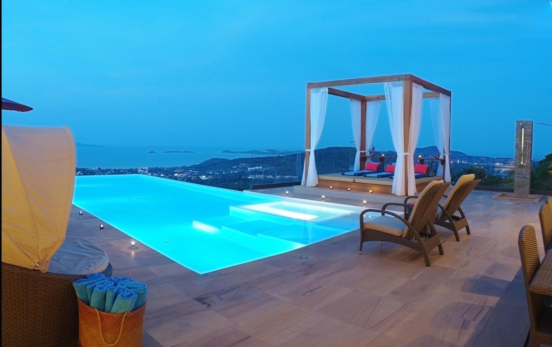 9 Bedroom Sea View Villa Blue   5* With Staff
