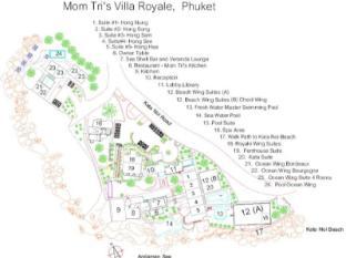 Mom Tris Villa Royale Hotel Phuket - Grundriss