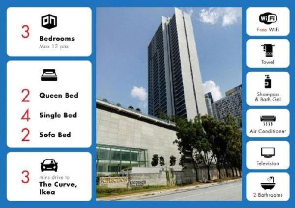Reflection Residences Ikea TheCurve 16,Urban Suite Kuala Lumpur