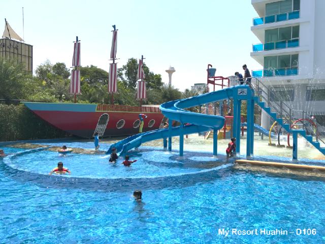 อพาร์ตเมนต์ 3 ห้องนอน 2 ห้องน้ำส่วนตัว ขนาด 66 ตร.ม. – เขาตะเกียบ – My Resort Huahin D106