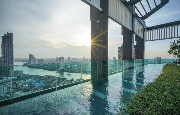 Luxury RiverView Overlook BKK,WIFI,2min BTS & Pier Bangkok