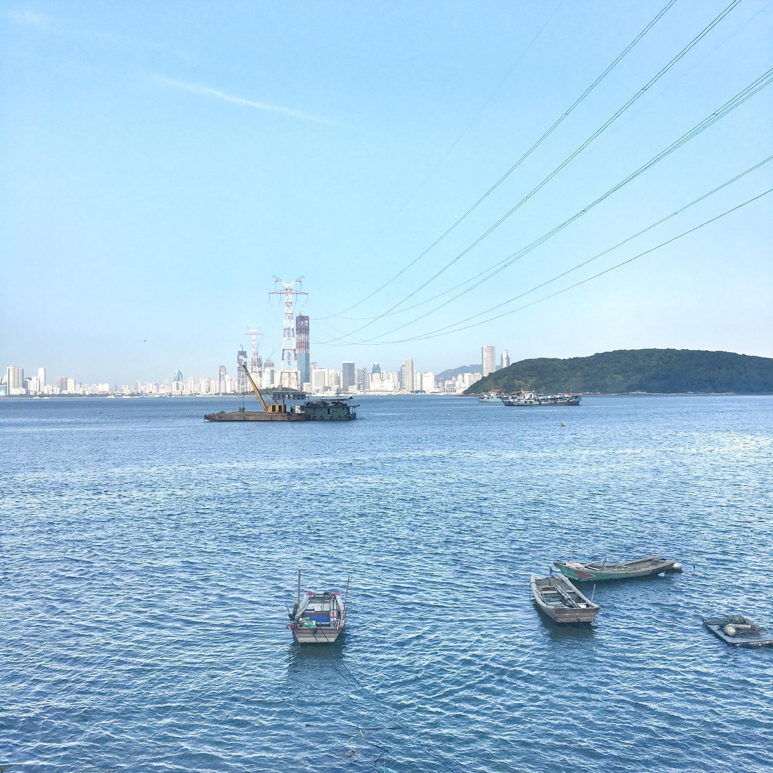 Gulangyu side, overlooking Zhongshan Road