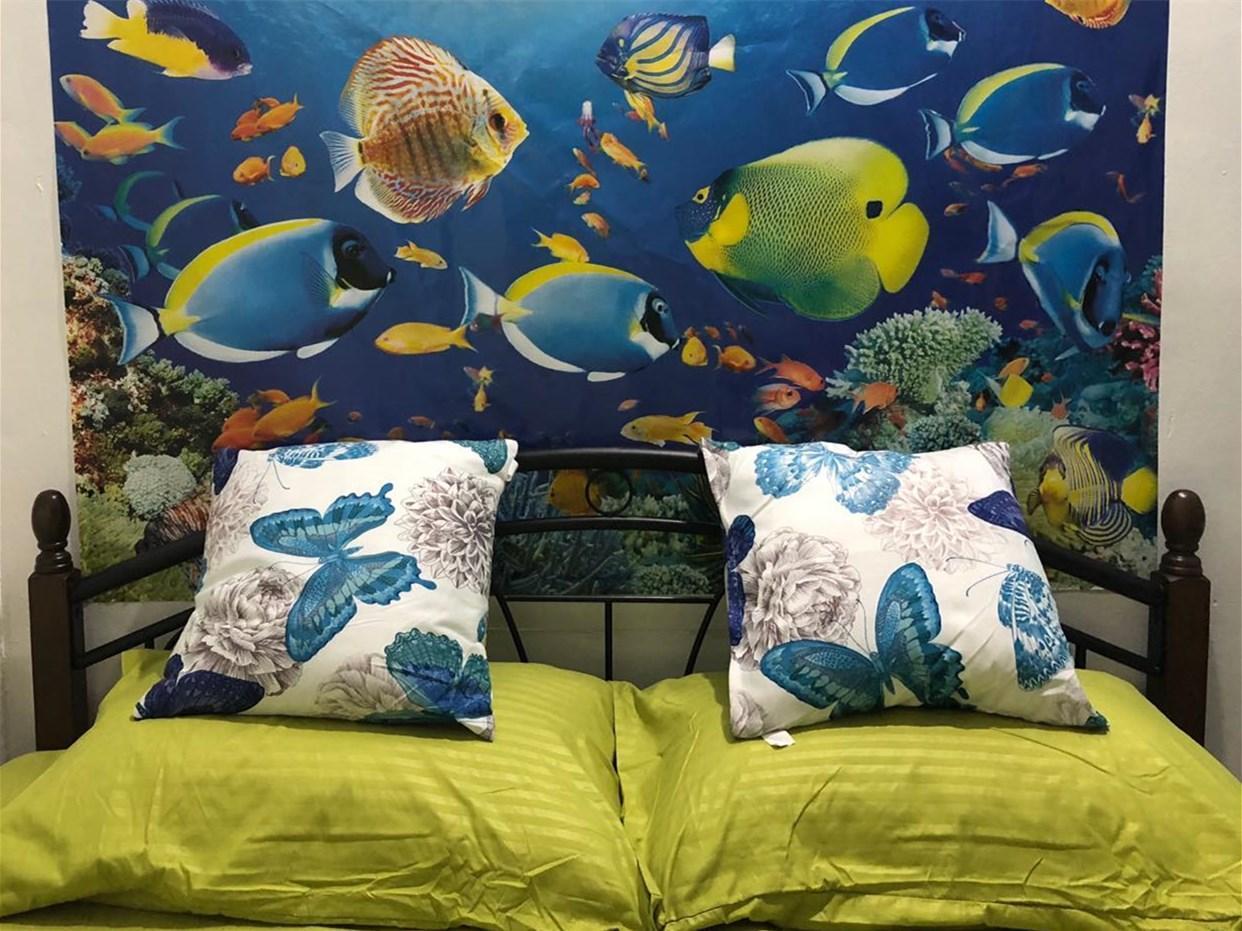 Green Mango House    Queen Bed Room