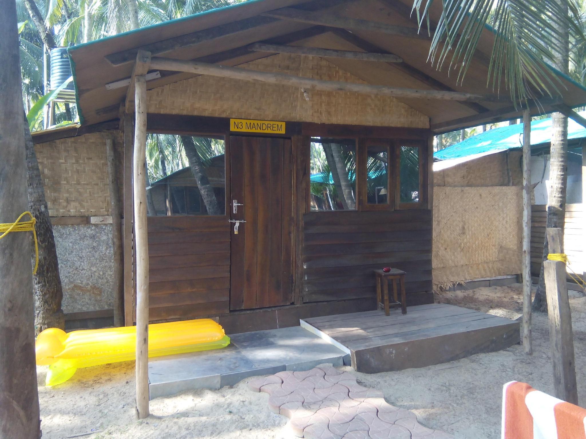 Goa cafe del mar beach bungalows in india asia