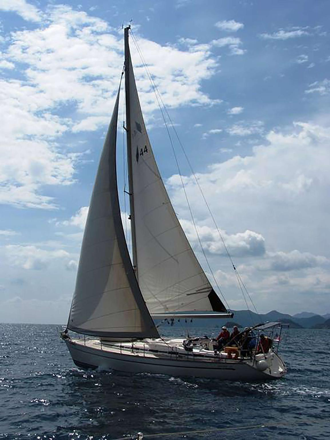 Sailing On A Private Yacht Bavaria 44 With Captan
