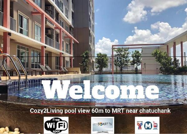 Cozy2Living pool view  60m to MRT near chatuchank Bangkok