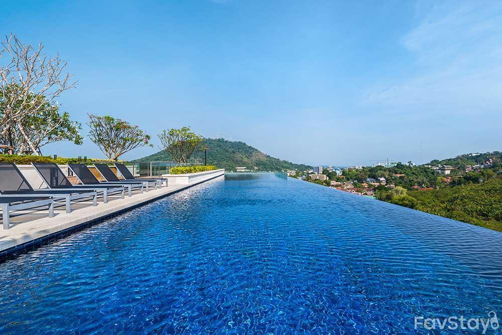 Idyllic Sky Pool Rooftop 1BR Phuket City